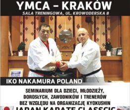 Ogólnopolskie Seminarium Karate Kyokushin w YMCA Kraków już niebawem!